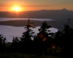 Sunset, Lake Almanor from Dyer Mt